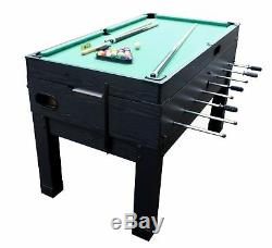 13 in 1 GAME TABLE in BLACK FOOSBALL, POOL, AIR HOCKEY, SHUFFLEBOARD by BERNER