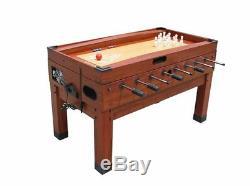13 in 1 GAME TABLE in CHERRY FOOSBALL, POOL, AIR HOCKEY, SHUFFLEBOARD + more