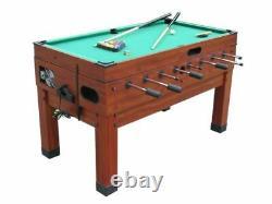 13 in 1 GAME TABLE in CHERRYFOOSBALL, POOL, AIR HOCKEY, SHUFFLEBOARD, PING PONG
