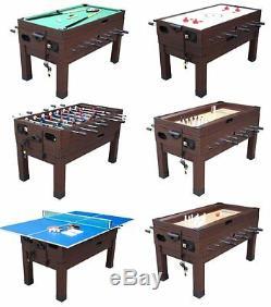 13 in 1 GAME TABLE in ESPRESSO FOOSBALL, POOL, AIR HOCKEY, SHUFFLEBOARD -BERNER