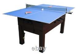 14 in 1 multi-game Foosball & Air Hockey table, Ping Pong, Pool & Shuffleboard