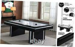 2 Player Electric Air Hockey Table, Black