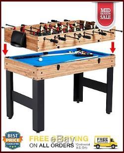 3 In 1 Combo Multi Game Table Foosball Soccer Convert Billiards Pool Air Hockey