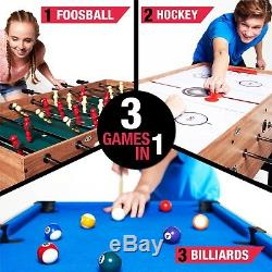3 In 1 Combo Multi Game Table Pool Air Hockey Foosball Sport Tables Games