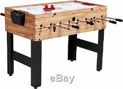 3-In-1 Kids Combo 4ft Foosball Air Hockey Billiard Pool Table Game Set Kit New