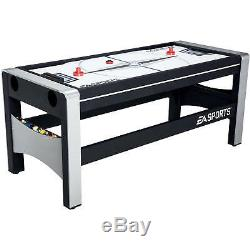 4 in 1 Air Hockey Ping Pong, Pool Table, Billiards Swivel Game Room 72 Games