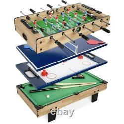4-in-1 Arcade Competition Game Table Pool Billiards Air Hockey Foosball Tennis