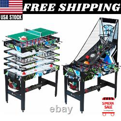 48 12 In 1 Combo Multi Game Table, Pool, Air Hockey, Table Tennis, Basketball