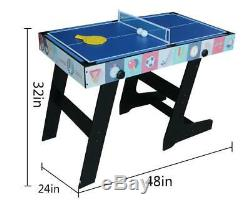 4in1 Game Table-Pool Table/ Air Hockey /Mini Table Tennis Table/ Football Table