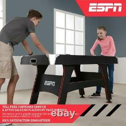 5 ft. Air Hockey Table with Led Electronic Scorer With Accessories Pushers Pucks