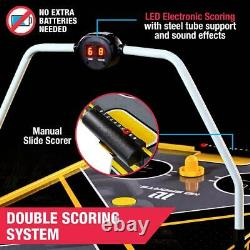 54 Air Hockey Game Table, Overhead Electronic Scorer, Indoor Sports Fun Compete