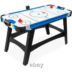 58in Air Powered Hockey Table Electronic LED Score Board Game 2 Pucks, 2 Pushers