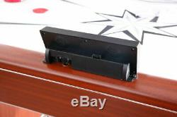 6 Foot Air Hockey Table Game Room LED Electronic Scoreboard Cherry Wood Finish
