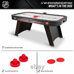 6 ft Mid-Size NHL Air Attack Indoor Hover Hockey Game Table Sports LED Scoring