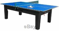 6 in 1 COMBO GAME TABLE POOLAIR HOCKEYPING PONGROULETTEPOKERDINING BLACK