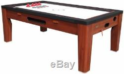 6 in 1 COMBO GAME TABLE POOLAIR HOCKEYPING PONGROULETTEPOKERDINING CHERRY