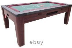 6 in 1 COMBO GAME TABLE POOLAIR HOCKEYPING PONGROULETTEPOKERDINING WALNUT