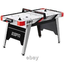 60 Inch Air Hockey Game Table LED Electronic Scorer Easy Assemble Fun Game Night