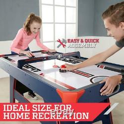 60 Inch Air Powered Hockey Table with Scorer Game Room New