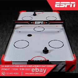 60 inch Air Hockey Game Table LED Overhead Electronic Scorer Quick Assembly