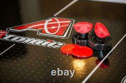 8' Hockey Table with LED Scoring Touchscreen Controls and 2 Ergonomic Strikers