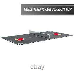 80 Air Powered Hockey Table With Table Tennis Ping Pong Top 2 in 1 Game