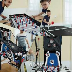 AIR HOCKEY CHECKERS CHESS FOOSBALL GAME TABLE 48 12-in-1 Accessories Included