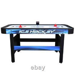 AIR HOCKEY GAME TABLE 5 Ft Blue Black Strikers Pucks Electronic Scoring System