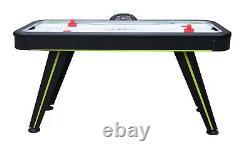 AIR HOCKEY GAME TABLE SET Digital Scoreboard Accessories Included Black 55