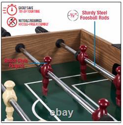AIR HOCKEY POOL BILLIARD FOOSBALL GAME TABLE 48 3-in-1 Accessories Included