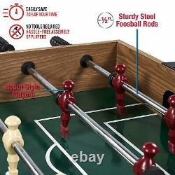 AIR HOCKEY POOL BILLIARD FOOSBALL GAME TABLE 48 3-in-1 Accessories Included New