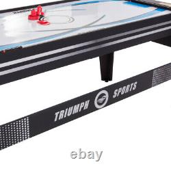 AIR HOCKEY POOL BILLIARD GAME TABLE 72 4-in-1 Accessories Included