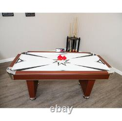 AIR HOCKEY TABLE 6' Air Powered LED Scorer Accessories Included White Brown