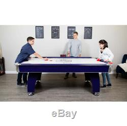 AIR HOCKEY TABLE 7.5-Ft Blue Silver with Strikers Pucks Electronic LED Scoring