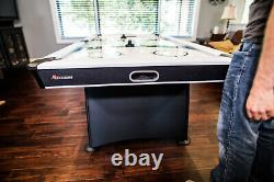 AIR HOCKEY TABLE 7' Air Powered LED Scorer Accessories Included White Black