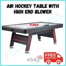 AIR HOCKEY TABLE 84-Inch Air Powered LED Scorer Accessories Included Red Black