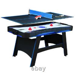 AIR HOCKEY TABLE TENNIS GAME TABLE SET Scoreboard Accessories Included Black