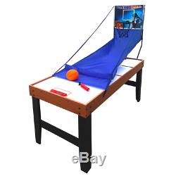 Accelerator 54 in. 4-in-1 Multi-Game Table, air hockey, table tennis & basketball