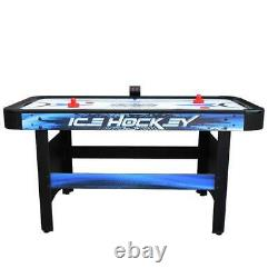 Air Hockey Game Table 5 Ft. Dual Goal Boxes With Built-In Automatic Puck Return
