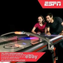 Air Hockey Game Table with Overhead Electronic Scorer and Arcade Sound Effects