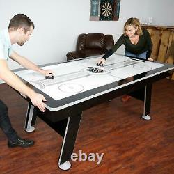 Air Hockey Ping Pong Table Game Room 80-inch Air Powered Hover LED Scoring