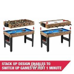 Air Hockey Pool Billiard Foosball 48 3 In 1 Combo Game Accessories Included