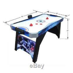 Air Hockey Table 5-ft Kids Adult Indoor Game Play Includes 2 Strikers 2 Pucks US
