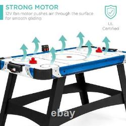 Air Hockey Table 58in Mid-Size Game Room 2 Pucks, 2 Pushers, LED Score Board 12V
