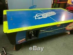Air Hockey Table Dynamo Hot Flash 8' with overhead light and scoreboard
