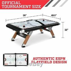 Air Hockey Table ESPN 8 Foot Air Powered Hockey Table with Overhead Electronic