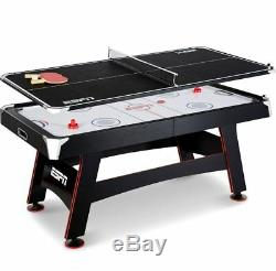 Air Hockey Table For Kids Multi Game Ping Pong Tennis 72 Inch In Rail Score Play