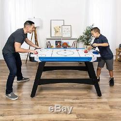 Air Hockey Table Fun Arcade LED Score Board Kids Adults Fun 2 Puck Paddles Sport