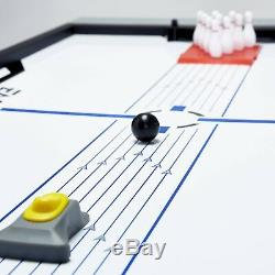 Air Hockey Table Kids Multi Game Swivel Tennis Ping Pong Pool Billiard Bowling