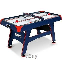 Air Hockey Table Powered Overhead Electronic Scorer Recreation Game Room Durable